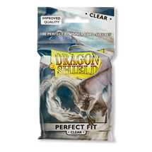 13001 Dragon Shield Standard Perfect Fit Sleeves - Clear/Clear (100 Sleeves)