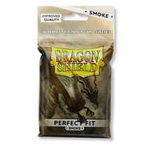 AT-13023 Dragon Shield Standard Perfect Fit Sleeves - Clear/Smoke (100 Sleeves)