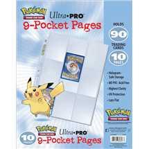 E-84847 Espositore 10 Fogli Trasparenti 9 Tasche Pokémon