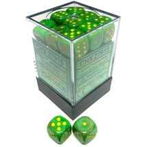 27915 Set 36 Dadi D6 (12 mm) Vortex Slime/Yellow