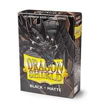11102 Dragon Shield Small Sleeves - Japanese Matte Black (60 Sleeves)