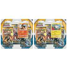 Pokemon Sole e Luna blister da 3 buste con carta promo e una moneta Togedemaru/ Litten