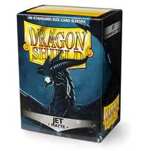 11024 Dragon Shield Standard Sleeves - Matte Jet (100 Sleeves)