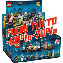 LEGO 71020 Minifigures Display 60x Batman Movie serie 2 - FUORI TUTTO