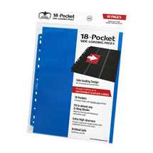 UGD010406 Ultimate Guard 18-Pocket Pages Side-Loading Blue (10)