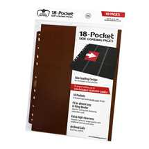 UGD010411 Ultimate Guard 18-Pocket Pages Side-Loading Brown (10)
