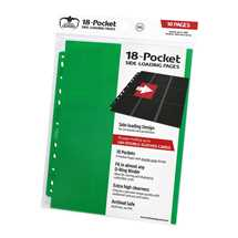 UGD010408 Ultimate Guard 18-Pocket Pages Side-Loading Green (10)
