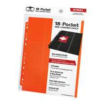 UGD010640 Ultimate Guard 18-Pocket Pages Side-Loading Orange (10)