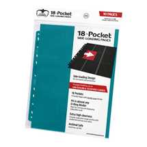 UGD010642 Ultimate Guard 18-Pocket Pages Side-Loading Petrol Blue (10)