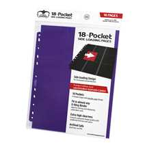 UGD010410 Ultimate Guard 18-Pocket Pages Side-Loading Purple (10)