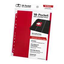 UGD010407 Ultimate Guard 18-Pocket Pages Side-Loading Red (10)