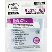 UGD010288 Ultimate Guard Premium Soft Sleeves for Board Game Cards Big Square 82x82mm (50)