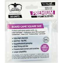 UGD010283 Ultimate Guard Premium Soft Sleeves for Board Game Cards Square 73x73mm (50)