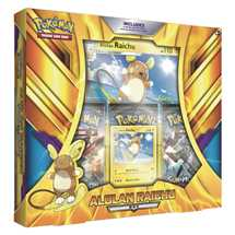 Pokemon Alolan Raichu Box in inglese