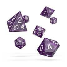 ODD500007 Oakie Doakie Dice RPG Set Marble - Purple (7)