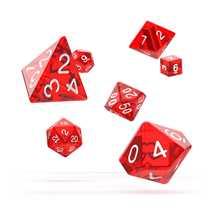 ODD500009 Oakie Doakie Dice RPG Set Translucent - Red (7)