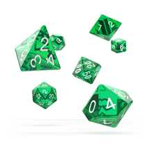 ODD500010 Oakie Doakie Dice RPG Set Translucent - Green (7)