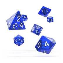 ODD500011 Oakie Doakie Dice RPG Set Translucent - Blue (7)