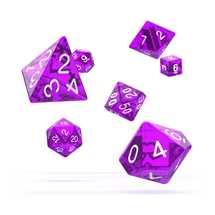 ODD500013 Oakie Doakie Dice RPG Set Translucent - Purple (7)