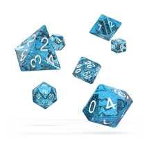ODD500022 Oakie Doakie Dice RPG Set Speckled - Light Blue (7)