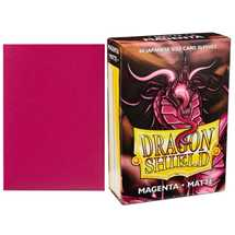 11219 Dragon Shield Small Sleeves - Japanese Matte Magenta (60 Sleeves)