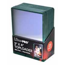 "E-84916 Toploader Bordo Verde Premium 3"" x 4"""