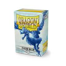 11033 Dragon Shield Standard Sleeves - Matte Clear Blue (100 Sleeves)