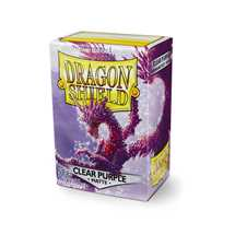 11029 Dragon Shield Standard Sleeves - Matte Clear Purple (100 Sleeves)