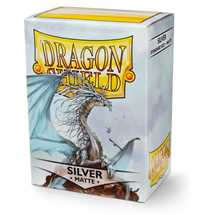 110000 Dragon Shield Standard Sleeves - Matte Silver (100 Sleeves)