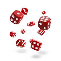 ODD400024 Oakie Doakie Dice D6 Dice 12 mm Solid - Red (36)
