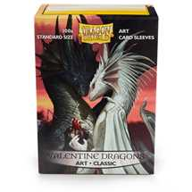 12019 Dragon Shield Standard Art Sleeves - Valentine (100 Sleeves)