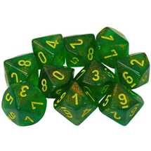 27365 Set of 10 d10 Borealis Maple Green/yellow