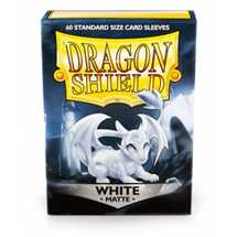 11205 Dragon Shield Standard Sleeves - Matte White (60 Sleeves)