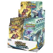 Box 8x Mazzi Pokemon Sole e Luna Eclissi Cosmica ITA