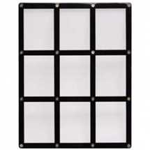 E-81204 9-Card Black Frame Screwdown Holder