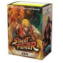 16014 Dragon Shield Jasco Street Fighter Standard Sleeves Ken (100 Sleeves)