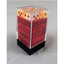 27653 Festive™ Sunburst™ /red Dice 16mm d6