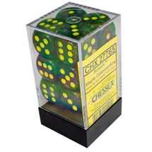 27765 Set of 12 16mm d6 Borealis™ Maple Green/yellow