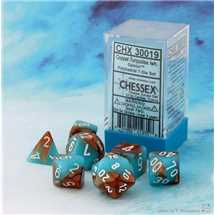 30019 Gemini® Polyhedral Copper-Turquoise/white 7-Die Set