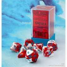30022 Gemini® Polyhedral Red-White/blue 7-Die Set