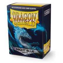 11042 Dragon Shield Standard Sleeves - Matte Night Blue (100 Sleeves)