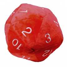 E-85336 UP - Dice - Jumbo D20 Novelty Dice Plush in Red with White Numbering