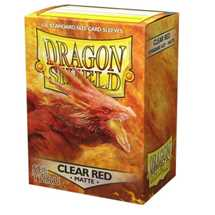 11043 Dragon Shield Matte Art Sleeves - Clear Red (100 Sleeves)