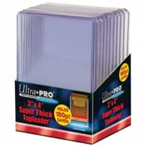 "E-82328 UP - 3"" x 4"" Super Thick 180pt Toploader (10 Pieces)"