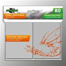 BF03563 Standard Sleeves Double Matte Clear (80 Sleeves)