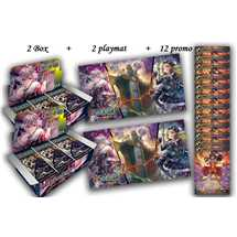 1 Kit Prerelease (2 playmat + 12 promo) + 2 Box FOW AO04 ING