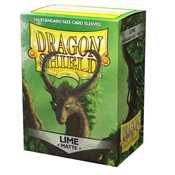 11038 Dragon Shield Standard Sleeves - Matte Lime (100 Sleeves)