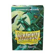 AT-11140 Dragon Shield Small Sleeves - Japanese Matte Olive (60 Sleeves)