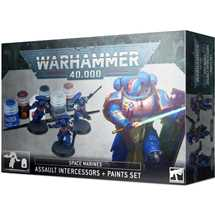 60-11 Space Marines: Assault Intercessors + Paint Set