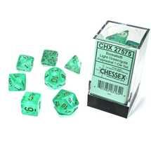 27575 Set di Dadi Borealis Polyhedral Luminary Light Green/gold 7-Die Set